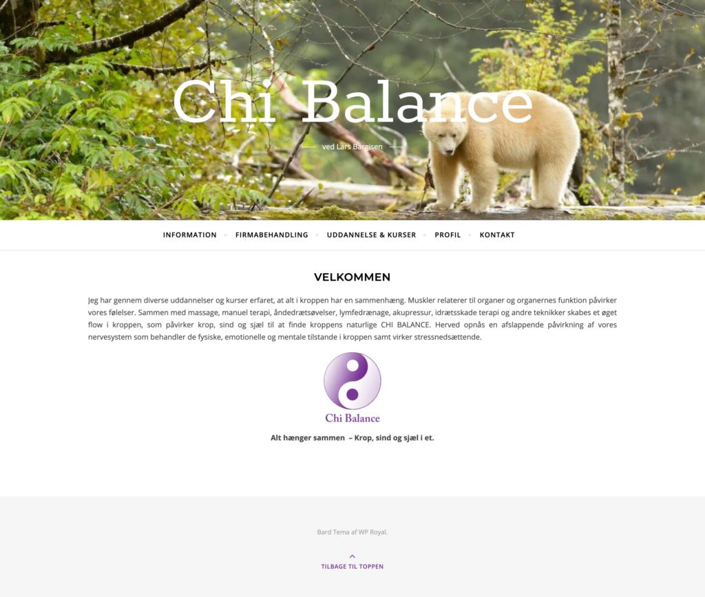 Chi Balance website